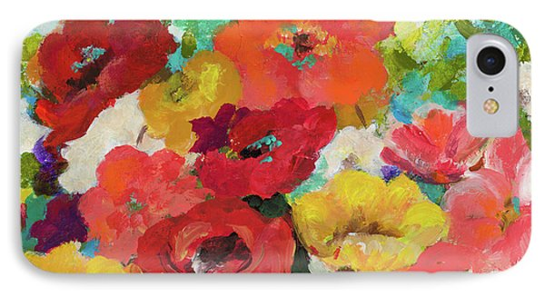 Cheerful Flowers II IPhone 7 Case by Patricia Pinto