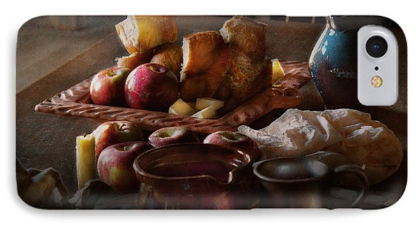 Chef - Food - A Tribute To Rembrandt - Apples And Rolls  Phone Case by Mike Savad