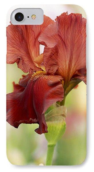 Chelsea Iris IPhone Case by Rona Black
