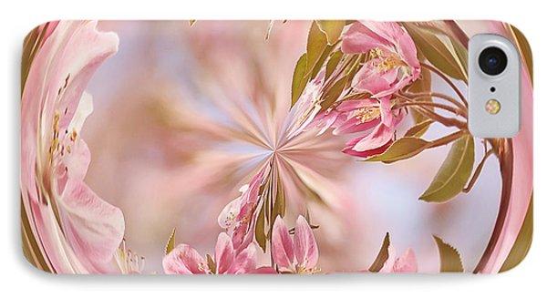 Cherry Blossom Orb Phone Case by Kim Hojnacki