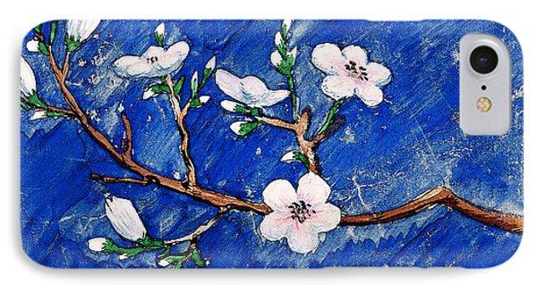 Cherry Blossoms Phone Case by Irina Sztukowski