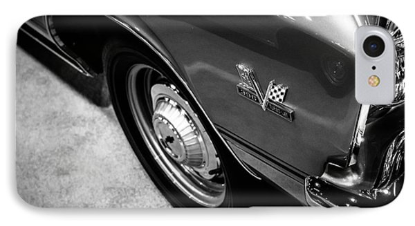 Chevrolet Chevelle 396 Black And White Picture Phone Case by Paul Velgos