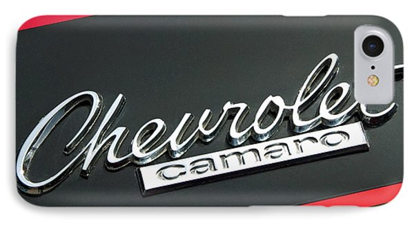 Chevy Camaro In Red Phone Case by Charlette Miller