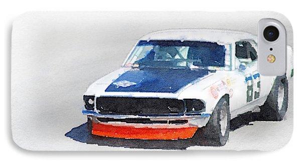 Chevy Camaro Monterey Watercolor IPhone Case by Naxart Studio