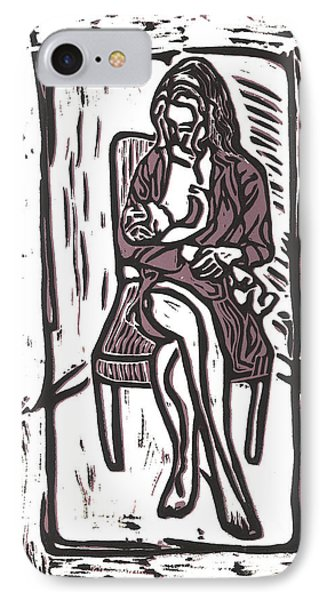 Chey And Lucca Nursing IPhone Case by Kevin Houchin