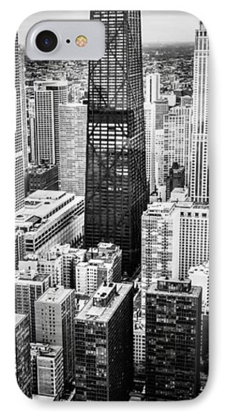 Chicago Aerial Vertical Panoramic Picture IPhone Case by Paul Velgos