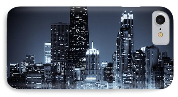 Chicago At Night With Hancock Building IPhone Case by Paul Velgos
