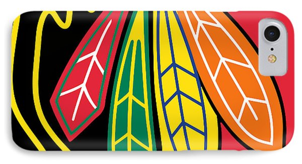 Chicago Blackhawks IPhone 7 Case by Tony Rubino