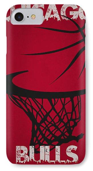 Chicago Bulls Hoop IPhone Case by Joe Hamilton