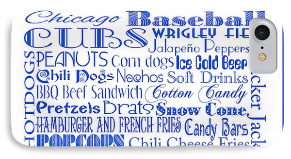 Chicago Cubs Game Day Food 3 IPhone Case by Andee Design