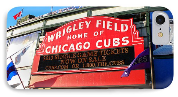 Chicago Cubs Marquee Sign IPhone Case by Thomas Woolworth