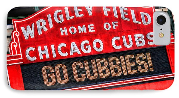 Chicago Cubs Wrigley Field IPhone 7 Case by Christopher Arndt