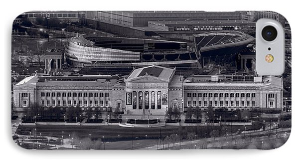 Chicago Icons Bw IPhone Case by Steve Gadomski