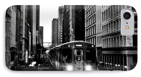Chicago L Black And White IPhone Case by Benjamin Yeager