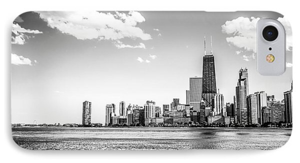 Chicago Lakefront Skyline Black And White Picture IPhone Case by Paul Velgos