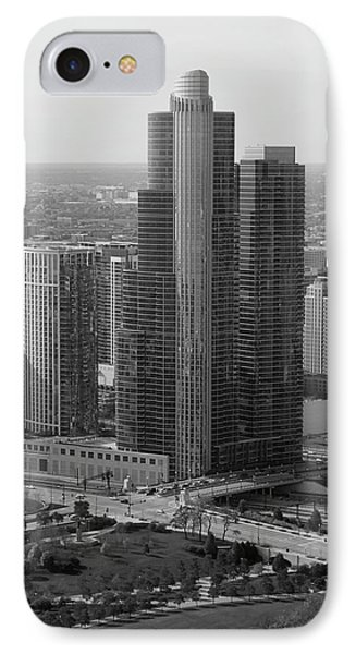 Chicago Modern Skyscraper Black And White Phone Case by Thomas Woolworth