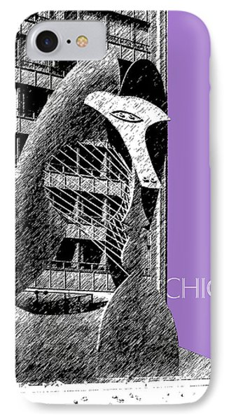 Chicago Pablo Picasso - Violet IPhone Case by DB Artist