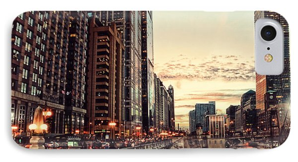 Chicago River November Hdr IPhone Case by Thomas Woolworth