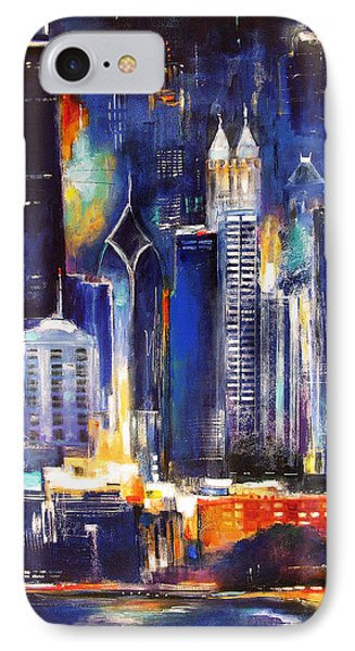 Chicago Skyline At Night IPhone Case by Kathleen Patrick