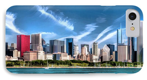 Chicago Skyline Panorama IPhone 7 Case by Christopher Arndt