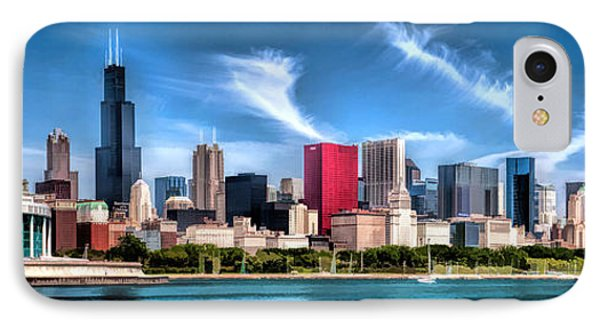 Chicago Skyline Panorama IPhone Case by Christopher Arndt