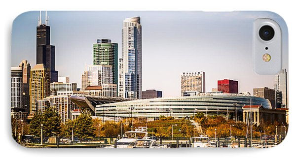 Chicago Skyline With Soldier Field IPhone Case by Paul Velgos