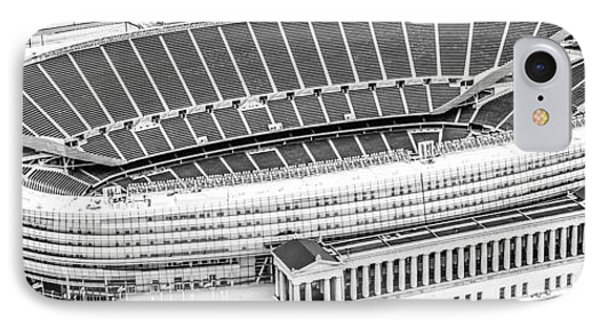 Chicago Soldier Field Aerial Panorama Photo IPhone Case by Paul Velgos