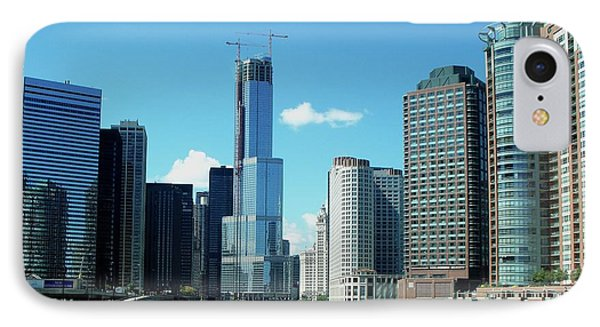 Chicago Trump Tower Under Construction Phone Case by Thomas Woolworth