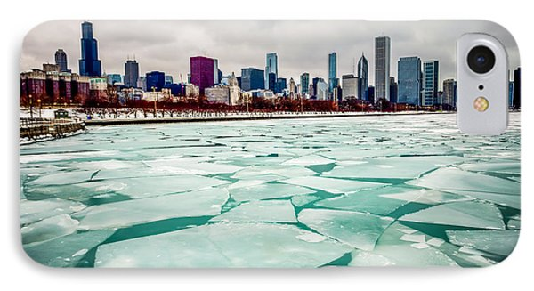 Chicago Winter Skyline IPhone 7 Case by Paul Velgos