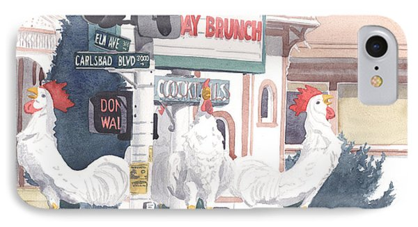 Chickens At Twin Inns Carlsbad IPhone Case by Mary Helmreich