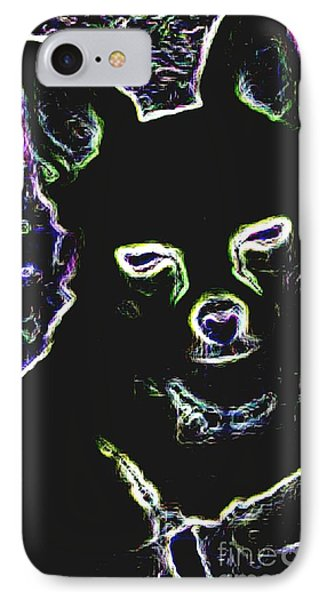 Chihuahua Silhouette With Color Phone Case by Gail Matthews