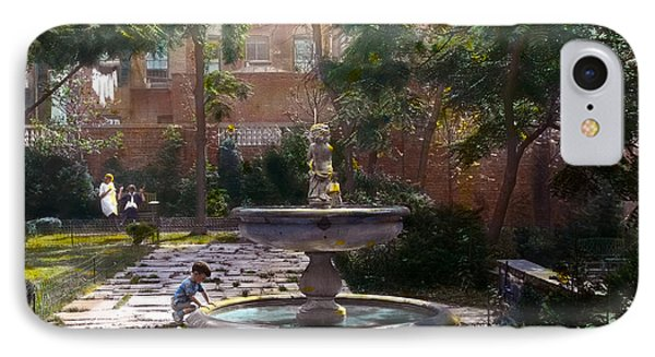 Child And Fountain Phone Case by Terry Reynoldson