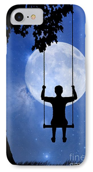 Childhood Dreams 2 The Swing Phone Case by John Edwards