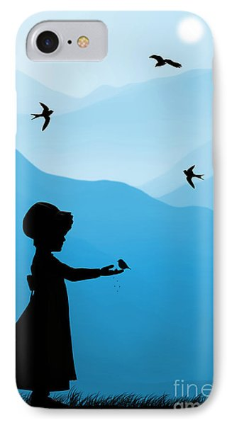 Childhood Dreams 5 Feeding Time IPhone Case by John Edwards