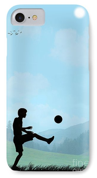 Childhood Dreams Football IPhone Case by John Edwards