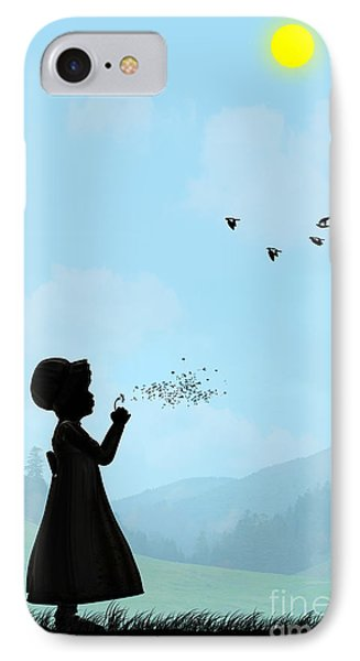 Childhood Dreams One O Clock IPhone Case by John Edwards