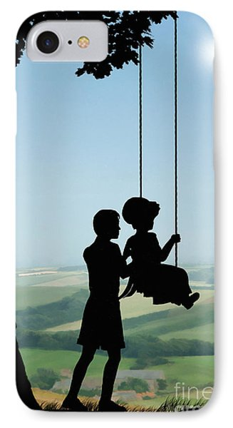 Childhood Dreams Push Me IPhone Case by John Edwards