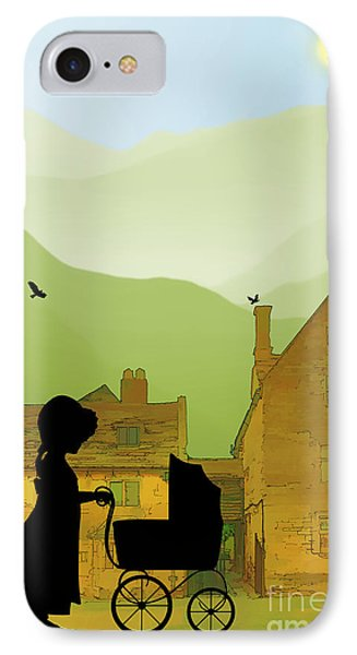 Childhood Dreams The Pram IPhone Case by John Edwards