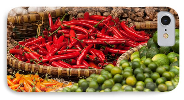 Chillies 01 Phone Case by Rick Piper Photography