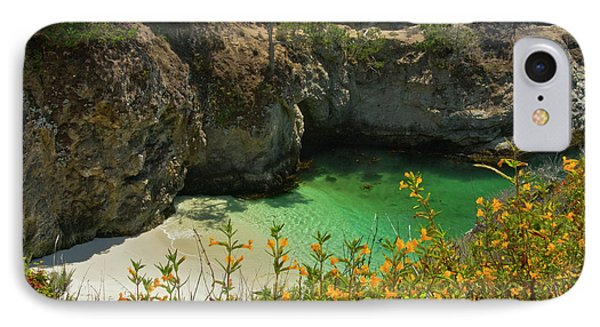 China Cove And Beach, Point Lobos State IPhone Case by Michel Hersen