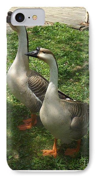 Chinese Swan Goose Pair 2 Phone Case by Sara  Raber