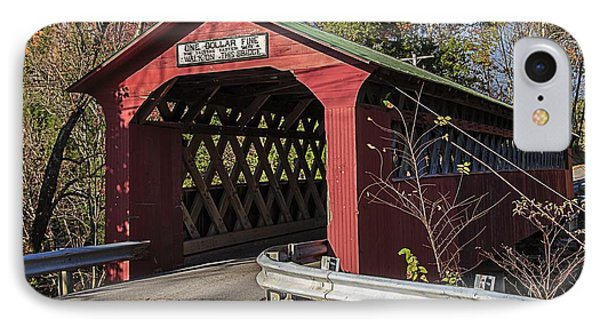 Chiselville Covered Bridge IPhone Case by Edward Fielding
