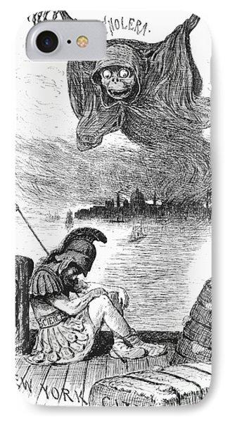 Cholera Cartoon, 1883 IPhone Case by Granger