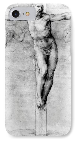 Christ On The Cross Phone Case by Michelangelo Buonarroti