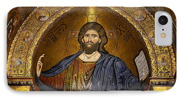 Christ Pantocrator Mosaic Phone Case by RicardMN Photography