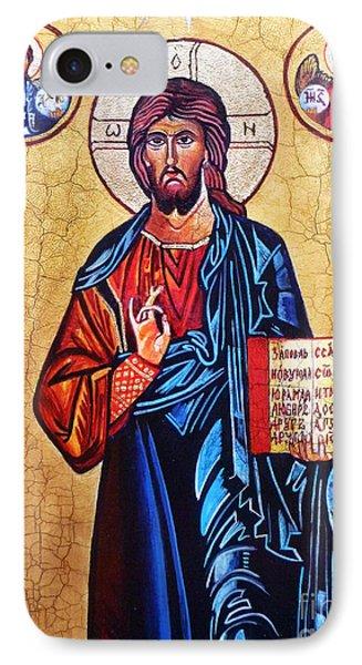 Christ The Pantocrator Phone Case by Ryszard Sleczka