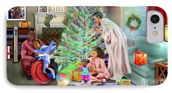 Christmas Back In Da Day Phone Case by Reggie Duffie