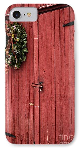 Christmas Barn Phone Case by John Rizzuto