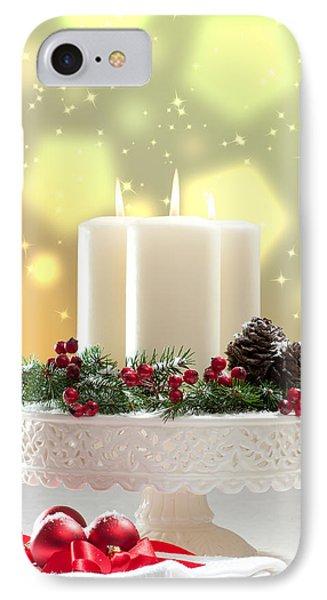 Christmas Candle Decoration IPhone Case by Amanda Elwell