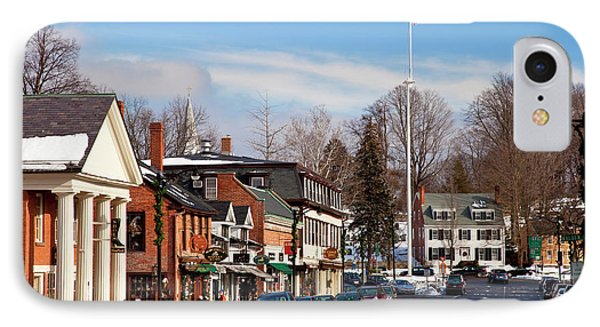 Christmas Day On Main Street, Concord IPhone Case by Brian Jannsen